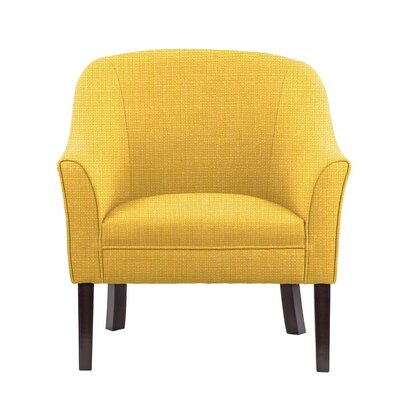 Ericksen Barrel Chair Upholstery: Rollins Yellow Solid