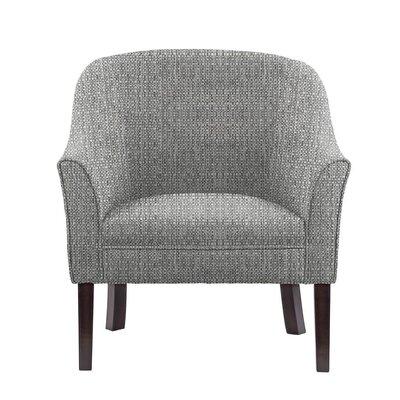 Ericksen Barrel Chair Upholstery: Rollins Light Gray Solid