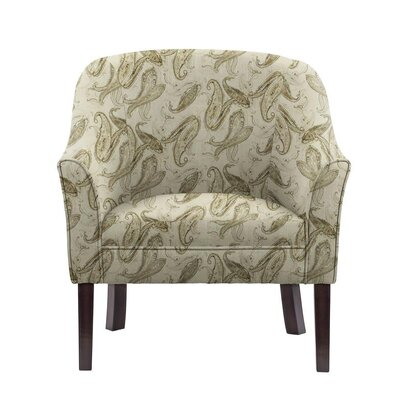 Ericksen Barrel Chair Upholstery: Surrey Off-White/Gray Paisley