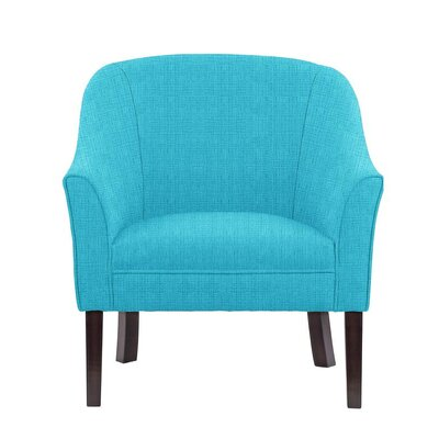 Ericksen Barrel Chair Upholstery: Helio Teal Solid