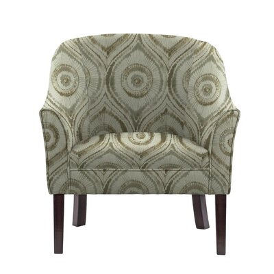 Ericksen Barrel Chair Upholstery: Satori Off-White/Gray Geometric
