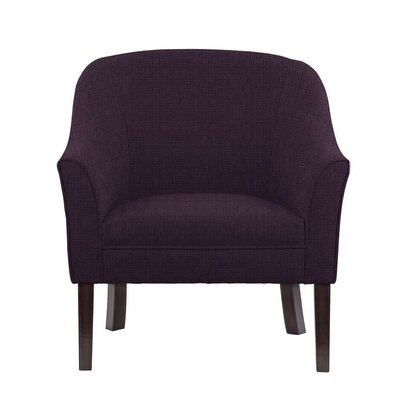 Ericksen Barrel Chair Upholstery: Helio Plum/Purple Solid