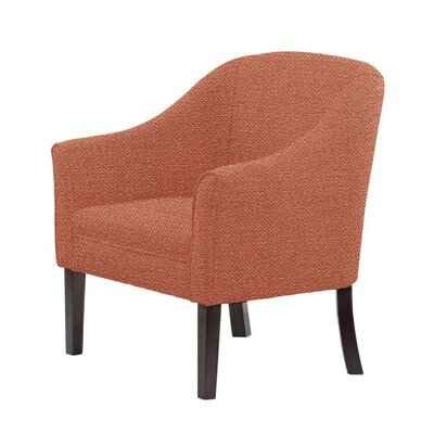Ericksen Barrel Chair Upholstery: Eclipse Coral/Red/Pink Solid