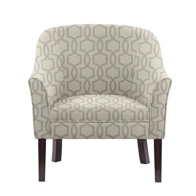 Ericksen Barrel Chair Upholstery: Vanguard Gray Geometric