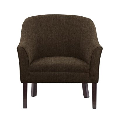 Ericksen Barrel Chair Upholstery: Verge Gray/Brown Solid