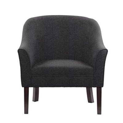 Ericksen Barrel Chair Upholstery: Fusion Dark Gray/Black Solid