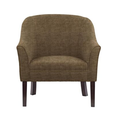 Ericksen Barrel Chair Upholstery: Sonoma Brown/Gray Solid
