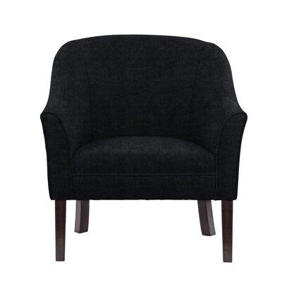 Ericksen Barrel Chair Upholstery: Sonoma Black Solid