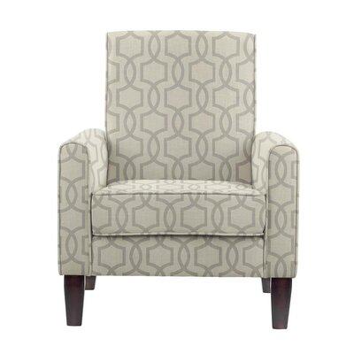 Erik Armchair Upholstery: Vanguard Gray Geometric