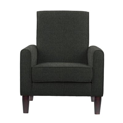 Erik Armchair Upholstery: Verge Dark Gray/Green Solid