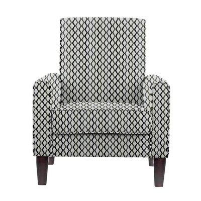 Woodmansee Armchair Upholstery: Zenith Gray/blue/off-white Geometric