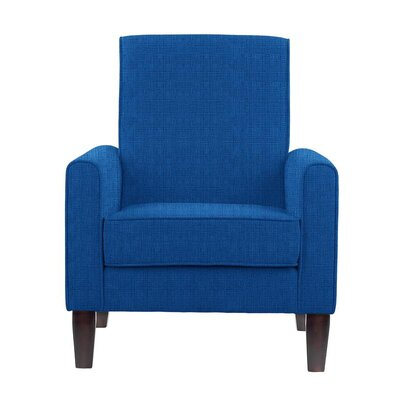 Erik Armchair Upholstery: Helio Royal Blue Solid