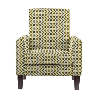 Woodmansee Armchair Upholstery: Zenith Off-White/Green/Gray Geometric