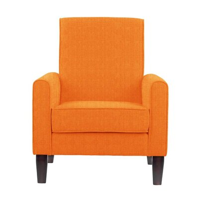 Erik Armchair Upholstery: Helio Orange Solid