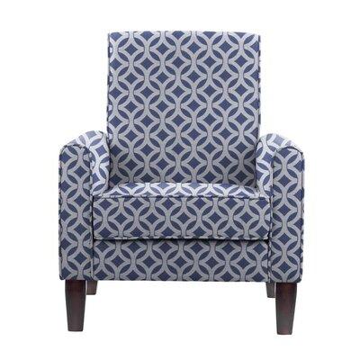 Erik Armchair Upholstery: Impala Blue/White Geometric