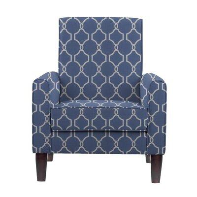 Erik Armchair Upholstery: Solange Blue/White Geometric