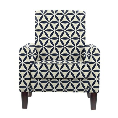 Erik Armchair Upholstery: Derry Navy Blue/White Geometric