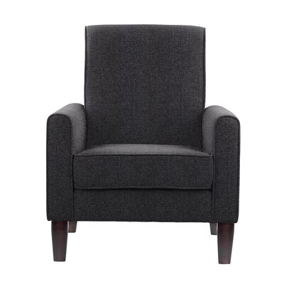 Erik Armchair Upholstery: Fusion Dark Gray/Black Solid