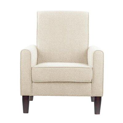 Erik Armchair Upholstery: Elon White/Off-white Solid