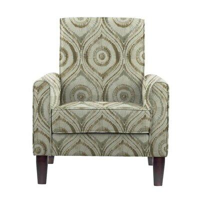 Erik Armchair Upholstery: Satori Off-White/Gray Geometric