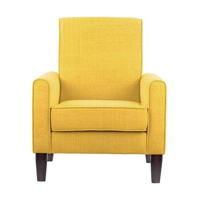 Erik Armchair Upholstery: Rollins Yellow Solid