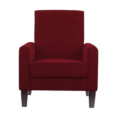 Erik Armchair Upholstery: Helio Burgundy/Red Solid