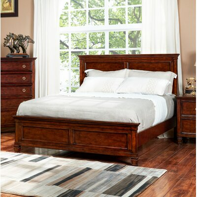 Holahan Panel Bed Size: Full, Color: Brown Cherry