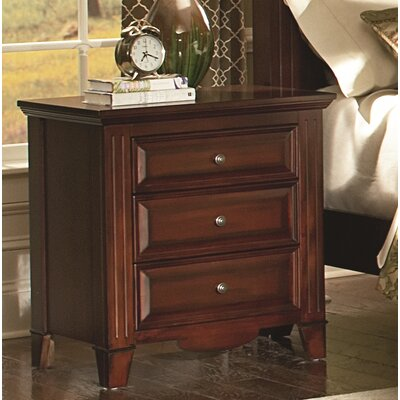Hoisington 3 Drawer Nightstand