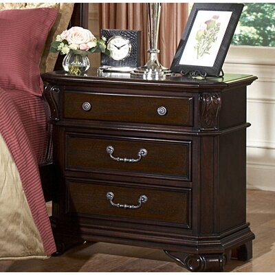 Raftery 3 Drawer Nightstand