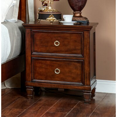 Holahan Night Stand Color: Brown Cherry