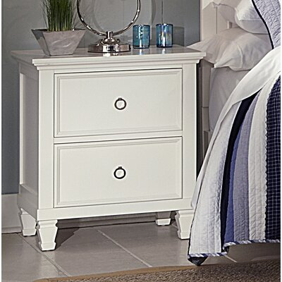 Holahan Night Stand Color: White