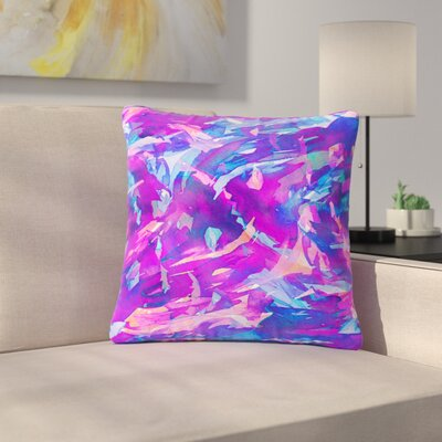 Ebi Emporium Motley Flow Outdoor Throw Pillow Size: 16 H x 16 W x 5 D, Color: Purple/Blue