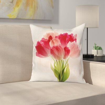Modern Flower Pillow Cover Size: 16 x 16