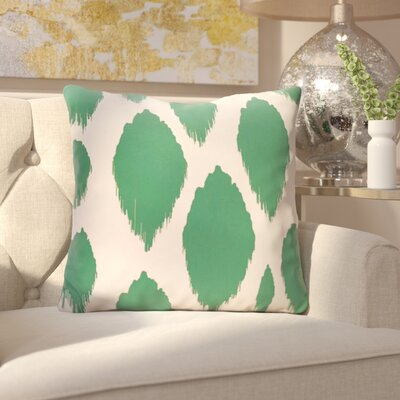 Kocher Polyester Throw Pillow Size: 18 H x 18 W, Color: Lake Blue
