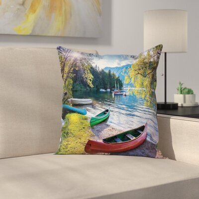 Boats Pillow Cover Size: 16 x 16
