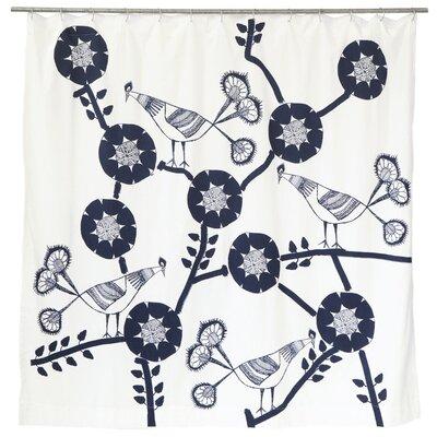 Filion Peacock Cotton Shower Curtain