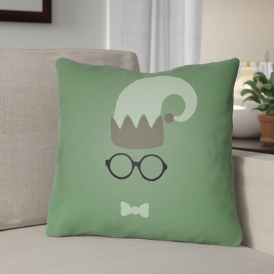 Graphic Print Indoor/Outdoor Throw Pillow Size: 18 H x 18 W x 4 D, Color: Green / Gray