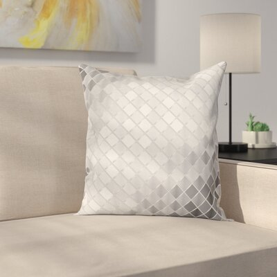 Metallic Seem Mosaic Square Cushion Pillow Cover Size: 16 x 16