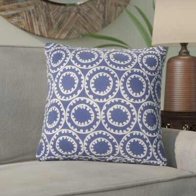 Malbrough Outdoor Throw Pillow Color: Blue