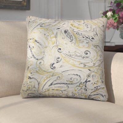 Gian Paisley Cotton Throw Pillow