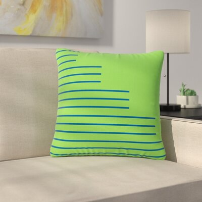 Trebam Stepenice V.3 Pattern Outdoor Throw Pillow Size: 18