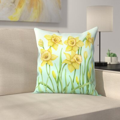 Daffodil Throw Pillow Size: 16 x 16
