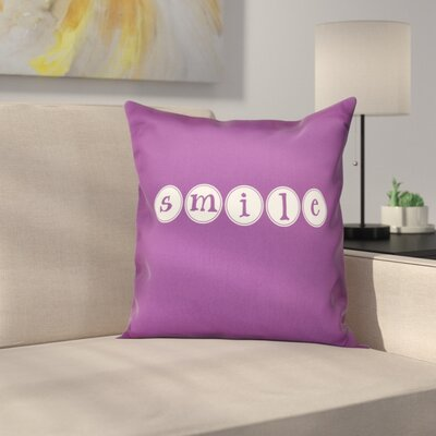 Sperber Throw Pillow Size: 16 H x 16 W, Color: Purple