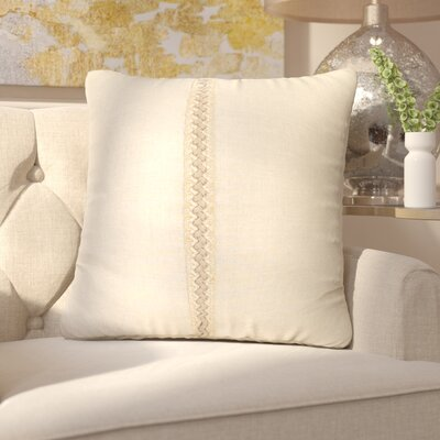 Kinchen Throw Pillow Color: Linen, Size: 24 x 24