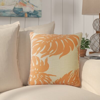 Maiah Floral Down Filled Throw Pillow Size: 24 x 24, Color: Mandarin