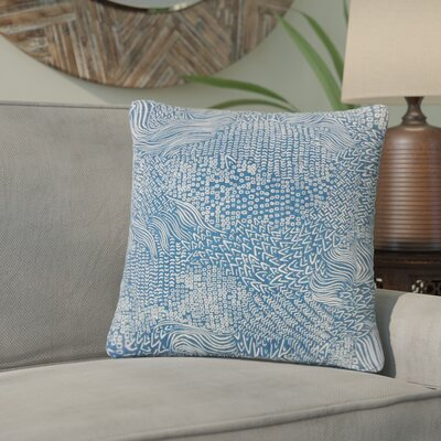 Zack Geometric Square Cotton Throw Pillow Color: Calypso