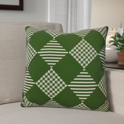 Decorative Geometric Throw Pillow Size: 16 H x 16 W, Color: Green