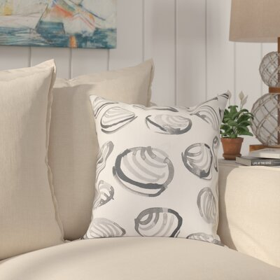 Cedarville Clams Geometric Print Throw Pillow Size: 26 H x 26 W, Color: Gray