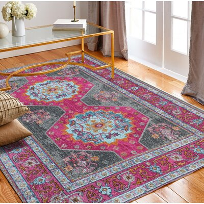 Dubbo Gray Area Rug Rug Size: Rectangle 77 x 96