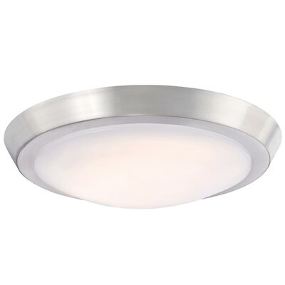 Ostrander 1-Light LED Flush Mount Fixture Finish: Brushed Nickel